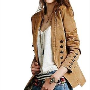 Free People M Buckthorne Brown Distressed Blazer